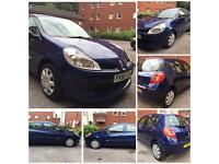 RENAULT CLIO EXPRESSION 1.2 Petrol 5 Door 2007 Blue Very Low Mileage (not Honda Toyota Yaris Civic)