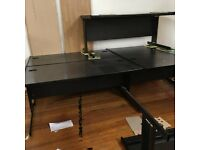 Black Rectanlge Cantilever Office/Home Workstation-FREE LOCAL DELIVERY