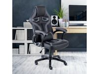 Executive PU Leather Sport Racing Car Gaming Office Chair With FREE SHIPPING & BRAND NEW