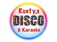 Rusty's Disco and Karaoke for the perfect party!