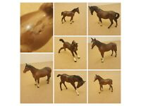 COLLECTION OF 7 VINTAGE BESWICK HORSES