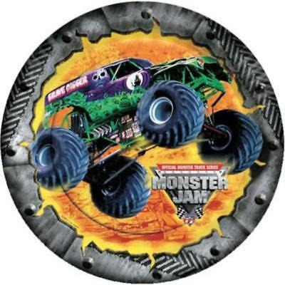 Monster Truck Jam Lunch Plates 8 Per Package Birthday Party Supplies ()