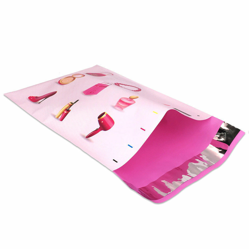 100 Designer Poly Mailers Plastic Envelopes Shipping Bags Custom #SmileMail®