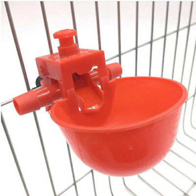 10pcs Bird Cage Chick Coop Feed Quail Drinking Cups Chicken Water Bowl