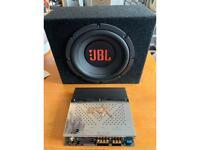 JBL 400w Subwoofer, SPLX 450 watt amp, pair of Vibe 300w 6x9 speakers