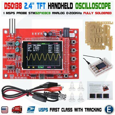 Dso138 2.4 Tft Soldered Fully Welded Digital Oscilloscope Acrylic Diy Case Kit