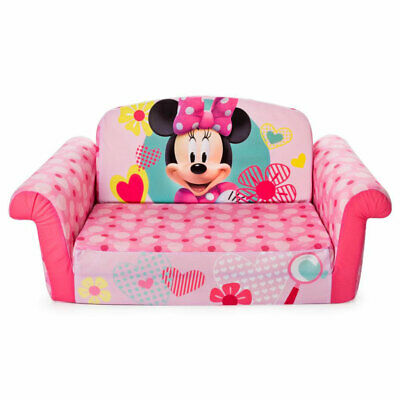 Marshmallow Furniture 2-in-1 Kids Flip Open Sofa Furniture Couch, Minnie Mouse