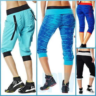 (ZUMBA Crave Dance Sweat Short Athletic Capri Top Leggings Yoga Sport Cargo Pants)