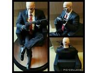 """Hitman Agent 47 Chessmaster Statue 10"""""""