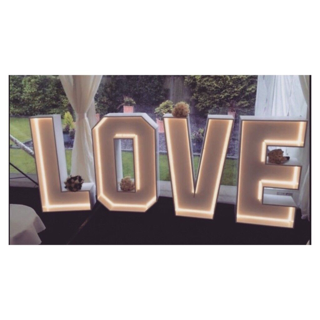 Wedding Love Letter Lights Norfolk Sign For Hire To Rent Giant