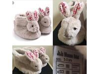 Gorgeous Rrp £16 designer children's bunny slipper boots 🐰