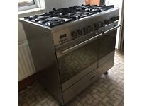 Kenwood Gas Range Cooker, 6 burners, 2 electric ovens plus grill