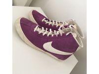Nike Blazers High tops Purple shoes trainers Size 7