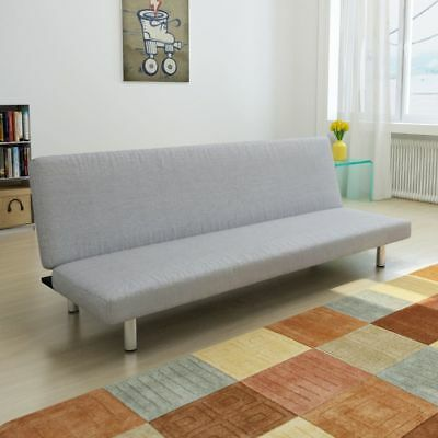 Futon Sofa Bed Convertible Sofa Living Room Dorm Sleeper Lounge Light Gray