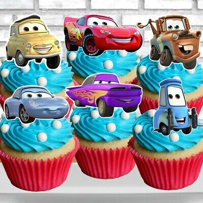 Cars Cupcake Topper (12pcs) (Cars Cupcakes)