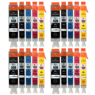 20 Ink Cartridges (5 Set) for Canon PIXMA iP8700 MG5551 MG6450 MG7500