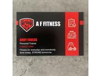 AF FITNESS - ONE TO ONE PERSONAL TRAINING - HOME BASED PURPOSE BUILT GYM