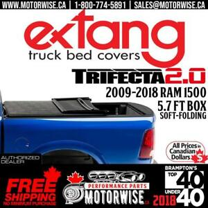 2009-2018 Ram 1500 Extang Trifecta 2.0 Soft Folding Tonneau Cover | 5.7 ft Bed | Free Shipping | www.motorwise.ca