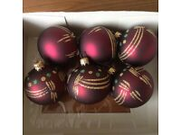 Christmas Baubles - Reds/Golds, immaculate condition!!!!!