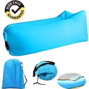 Blue Inflatable Lounger - Outdoor Waterproof Air Filled for Camping, Hiking, Traveling, Beach -SHIP Canada WIDE