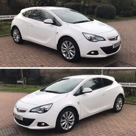 2013 VAUXHALL ASTRA GTC SRI TURBO, RARE RED INTERIOR, FRONT AND REAR PARKING SENSORS STUNNING CAR
