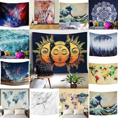 India Decor - USA Sell Waves Planet Tapestry Indian Wall Hanging Mandala Bedspread Home Decor