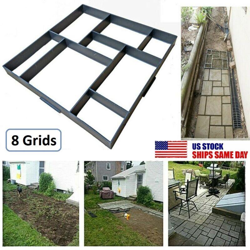 Garden Paving Pavement Mold Patio Concrete Stone Path Walk Maker Reusable DIY US