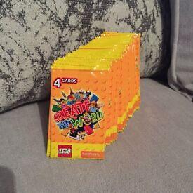50 packets of Sainburys lego cards unopened