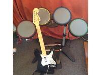 Guitar/drum hero inc game and accessories