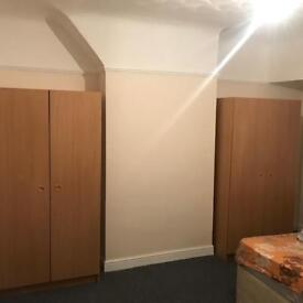 Double Door Wardrobe - Beech Lightly Used