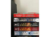 Lee child & assorted books