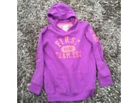 NEXT Girls Hoodie with front pouch pocket. Size 15 yrs. (Approx ladies size 10)Lovely soft touch