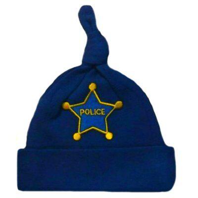 Baby Boy Police Officer Royal Blue Hat - 7 Preemie Newborn Toddler - Infant Police Hat