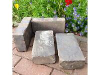 Reclaimed Victorian Staffordshire Blue pavers / vintage bricks / landscaping x 4