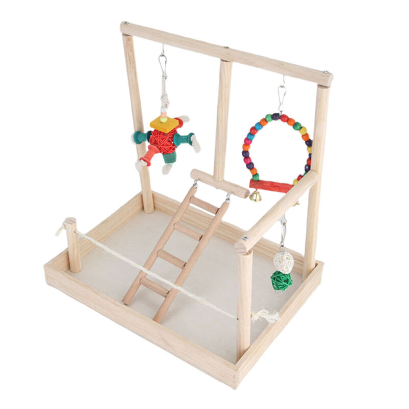 Bird Playground Parrot Perch Gym Stand for Parakeet Conure Cockatiel Type 2