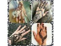 Halloween black henna.