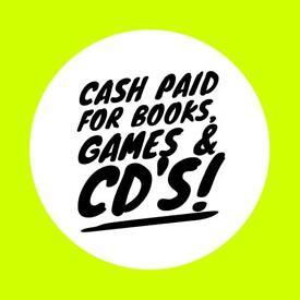 Books, CD'S & Games Wanted Will Pay & Collect