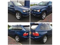 2001 BMW X5 4.4i 282BHP V8, 5 Door, Petrol, Manual, MOT 11 Months, 67,000 miles 6 stamps in service