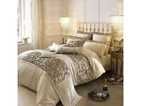 Kylie Minogue at Home Alexa Gold Bed Pillows and Runner