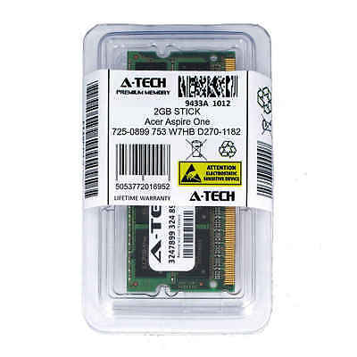 - 2GB SODIMM Acer Aspire One 725-0899 753 W7HB D270-1182 PC3-8500 Ram Memory