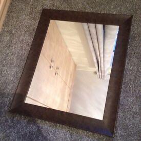Brown edged mirror