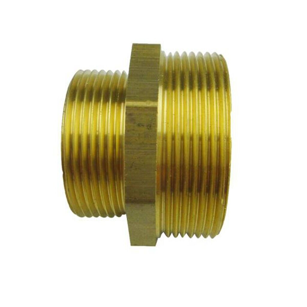 Brass BSP Equal Straight ReducingMale ThreadConnector Pipe Fittings Tubing