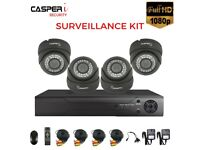 4CH DVR 1080p CCTV Dome VARIFOCAL HD Cameras 2.8-12mm LENS 30m IR Security kit