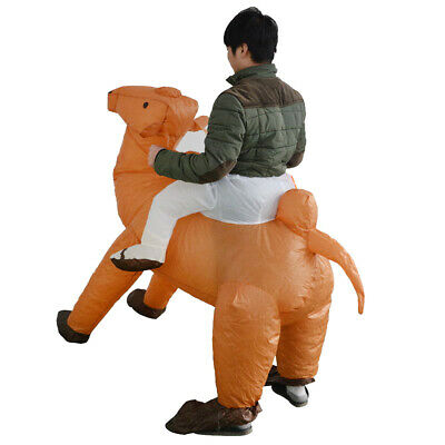 Adult Inflatable Costume Camel Suit Halloween Hens Rider Unisex Fancy Dress