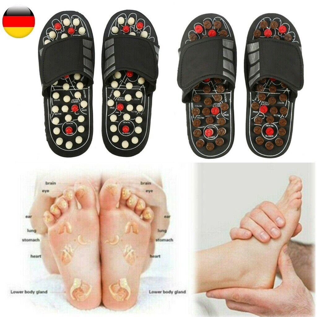 DE Massage Hausschuhe Sandalen Füße Reflexzonenmassage Akupressur Fußmassage DHL