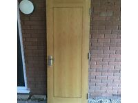 Howdens's Wooden (Heavy) Internal Fire Door (with lock and key)