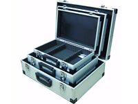 Maplin N50JU Small/Medium/Large Aluminium Metal Flight Case Lockable (Pack of 3)