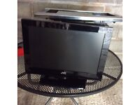 JVC 19inch TV with DVD player. Good working order