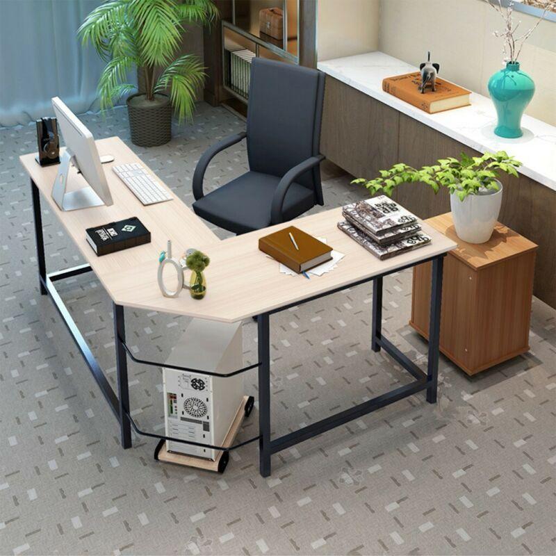 l shaped corner desk computer gaming laptop