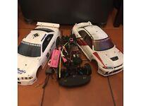 Yokomo YR4 ii RC CAR CHASSIS WITH MOTOR, ESC, BATTERIES AND 2 SHELLS
